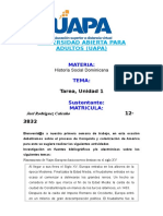 Tarea 1 Historia Social Dominicana