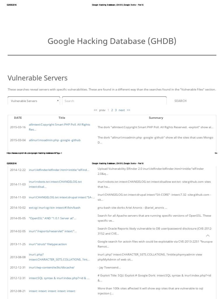 Google Hacking Database, GHDB, Google Dorks - Part 1 | World Wide