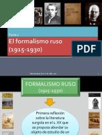 El Formalismo Ruso1 2017