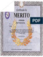 Certificado de Mérito Cristiano