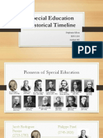 special education historical timeline