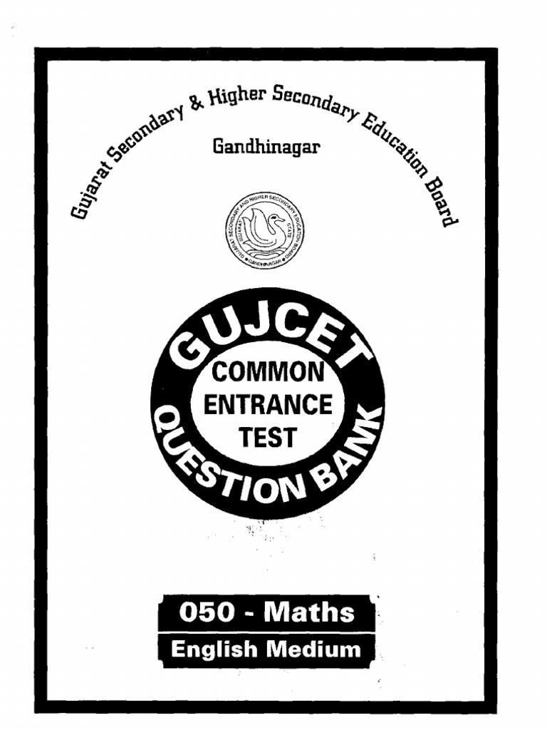 GUJCET ENGLISH SAMPLE PAPER FOR MATHS