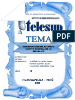 Monografia de Intervención Del Estado y Cuenta General de La Republica
