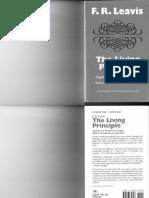 F. R. Leavis - The Living Principle