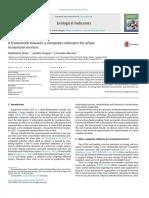 A Framework Towards a Composite Indicator for Urban Ec 2016 Ecological Indic