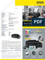 Folleto Epson EcoTank L805