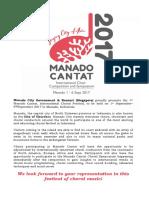 General Festival Information Manado Cantat
