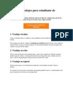 Tipos de Vendajes Para Estudiante de Medicina