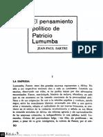Jean Paul Sartre - El Pensamiento Político de Patricio Lumumba