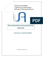 Fire detection using MATALB image processing