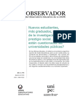 Dossier Del Observatorio Educativo de UNIPE Universidad