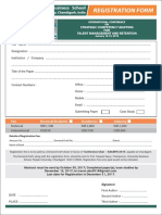 Registration Form FOR INTERNATIONAL CONFERENCE ON STRATEGIC COMPETENCY MAPPING FOR TALENT MANAGEMENT AND RETENTION