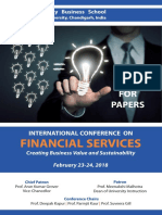 International Conference on Financial Services - Brochure Feb 23-24 ,2018 -UBS, PU, Chandigarh-160014, INDIA