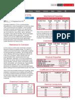 Alloy c 276 Data Sheet