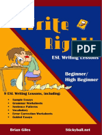 Beginner Writing E-Book