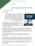 ConJur - Abusos Do Fisco, Corrupção, Processos Criminais e o Livre Arbítrio