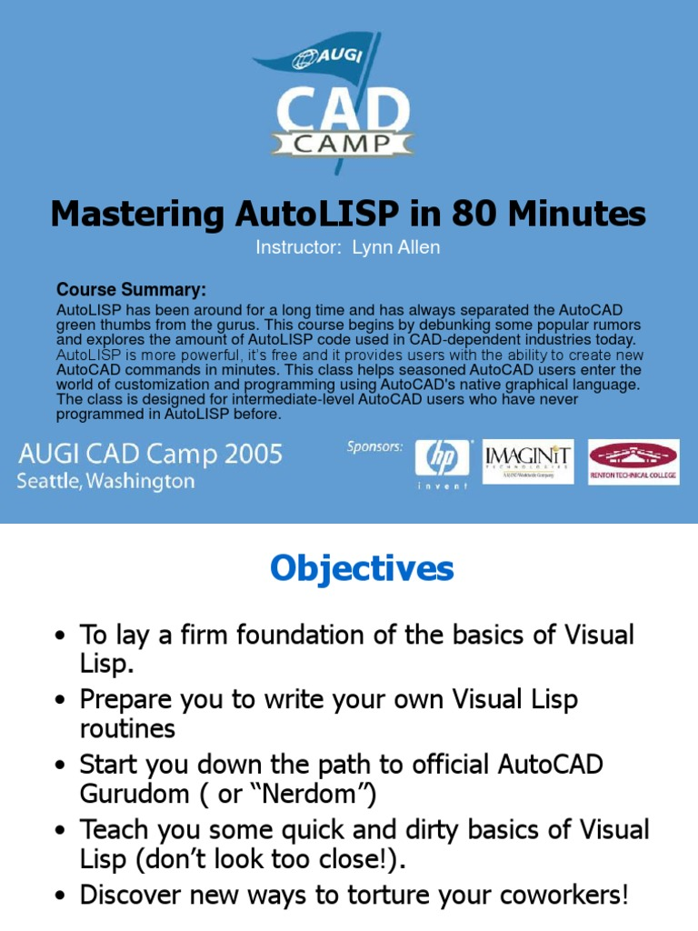Acdmac 2013 Autolisp Developers Guide | Computer Programming