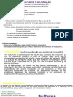 Sulfuros y Sulfusales