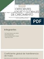 Coeficientes Individuales y Globales de Crecimiento Masa 1