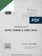 Tercera temporada de conciertos de la Orquesta Sinfónica de Colombia