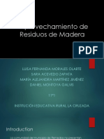 Aprovechamiento de Residuos Maderables