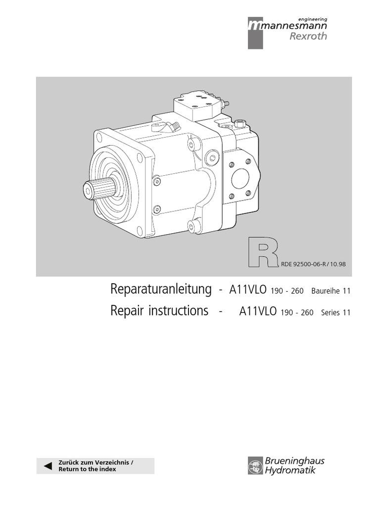A11vlo 11 Series Repair Instruction