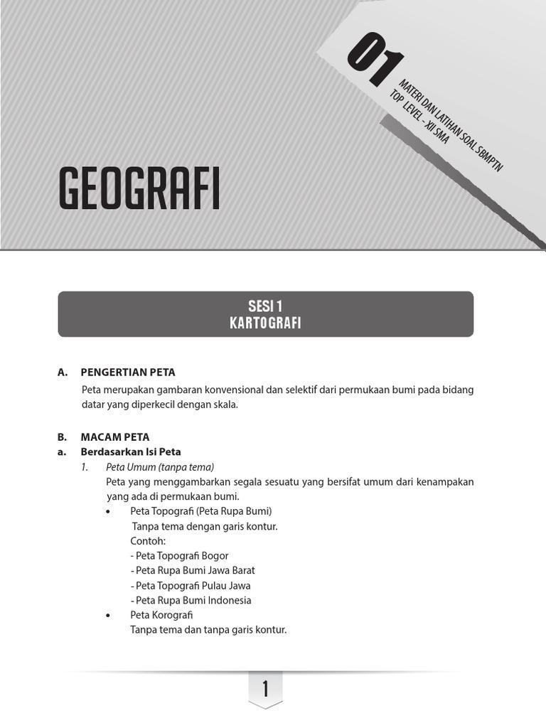 Peta Indonesia: Pengertian Peta Teknis