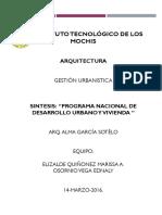 Programa Desarrollo Urbano y Vivienda