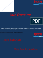 Java industrial 6 month training with KVCH