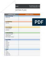 Marketing Template Digital Marketing Plan