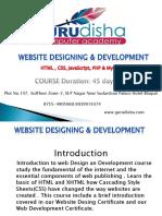 Website Designing Training in Bhopal