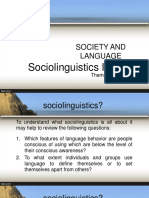 Sociolinguistics INTRODUCTION