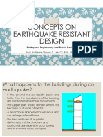 Concepts in designing earthquake resistant buildings