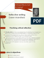 Practising reflective Writing