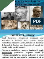 0 Prezentare Romanitatea Romanilor in Viziunea Istoricilor Cls. 12-1