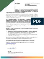 """Carta Invitación. Jornada """"Responsablidad Social para Periodistas"""". Octubre 2017. Fundación Caja Mediterráneo"""