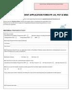 International Application Form University of Chester