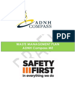 ADNH Compass ME - Waste Management Plan (Rev 01)