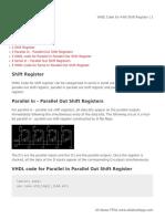 VHDL Code for 4-Bit Shift Register