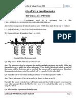 Class XII Physics Practical VIVA