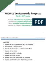 Plantilla Reporte de Avance de Proyecto