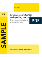 Ks2 English 2013 Specimen Grammar Punctuation Spelling Marking Scheme