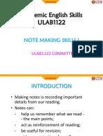 Notemaking I
