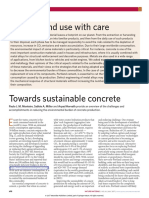 Towards Sustainable Concrete