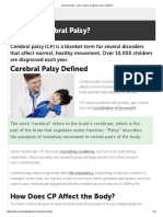 Cerebral Palsy - VERY GOOD PAPER - Learn Causes, Diagnosis and Treatment
