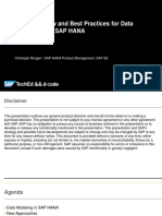 Best Practice for Data Modeling With HANA