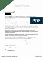 Contrat de consultant de A. Wallace Hayes avec Monsanto