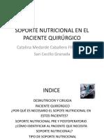 nutrición postoperatorio