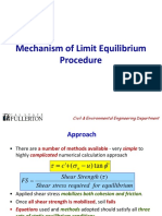 Mechanism of Limit Equillibrium Procedure