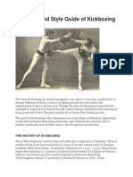A History and Style Guide of Kickboxing